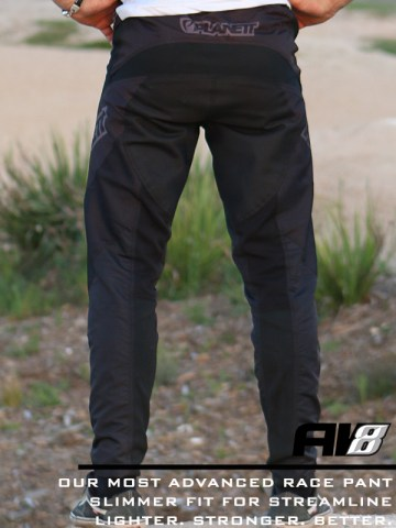 AV8 Black Pant HERO Back